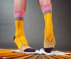 Dork out on a whole new level with these pencil socks. These geeky and eye catching yellow No. 2 pencil socks are perfect for a back to school outfit, or even a nerdy Halloween costume. These socks also go great with the white ruled paper notebook sock style. Buy It $12.00 via AshiDashi.com