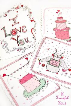 Free Printables | Valentines Gift and Mushroom Doodle Printable Gift Tags and Cards