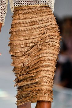 fringed leather, ermanno scervino