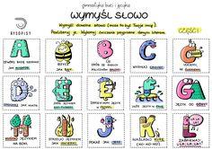 WYMYŚL SŁOWO część 1 | Rysopisy Learn Polish, Language, Crafty, Education, Learning, Logos, Quotes, Speech Language Therapy, Quotations