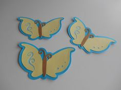 Butterflies  3 inches  Cardstock Die Cuts by MyThreeSonsByKristin, $2.00