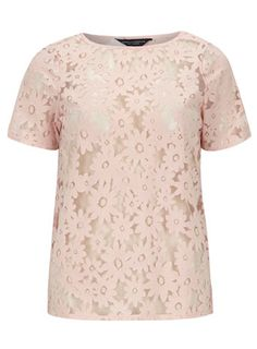 Blush daisy burnout tee - Tops & T-Shirts - Clothing