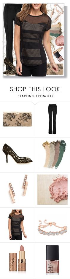 """""""Just a little lace"""" by hubunch ❤ liked on Polyvore featuring Jimmy Choo, Hale Bob, Dolce&Gabbana, Gucci, ZoÃ« Chicco, New Directions, tarte, NARS Cosmetics and lacecontest"""