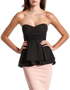 Zip-Back Sweetheart Tube Top: Charlotte Russe  This is, by all means, a MUST HAVE!