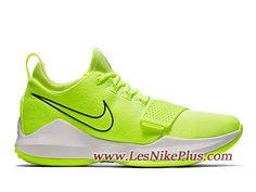 official photos 1df1d 5a91f Sneaker Nike PG1 Neon Volt Chaussures de Basket Pas Cher Pour Homme Vert  878628-700