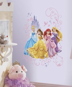 Love this Disney Princesses Wall Graphic by Disney Princess on #zulily! #zulilyfinds