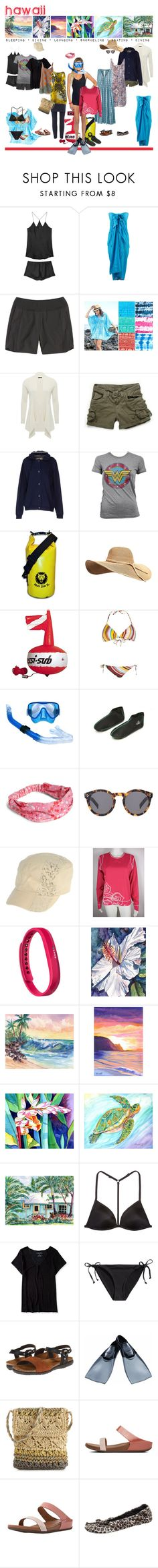 """""""Much Aloha 🌺"""" by neekdesign ❤ liked on Polyvore featuring Olivia von Halle, Peppermint Bay, Title Nine, M&Co, Match, Element, CAbi, CO, Vera Bradley and Illesteva"""