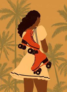 Girl with roller skates by Kristina Balashova - Stocksy United Retro Roller Skates, Roller Skates Girls, Roller Derby Clothes, Roller Derby Girls, Roller Skating Pictures, Roller Quad, Quad Skates, Skate Girl, Skateboard Art