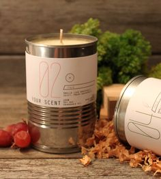 Small Scented Soy Tin Candles – Set of 2