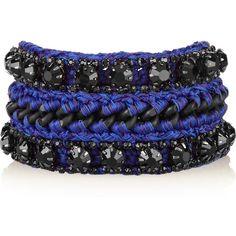 Venessa Arizaga Merida By Night black-plated crystal bracelet ($120) ❤ liked on Polyvore
