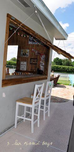 backyard bar Ideas Backyard Pool Bar Ideas Man Cave For 2019 Pool Bar, Outdoor Sheds, Outdoor Spaces, Outdoor Bars, Plan Garage, Garage Ideas, Pool Shed, Garden Bar Shed, Pub Sheds