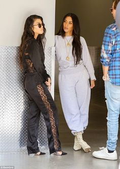 Just hanging: Kourtney had been filming scenes for KUWTK with sister Kim and Kim's BFF Jon...