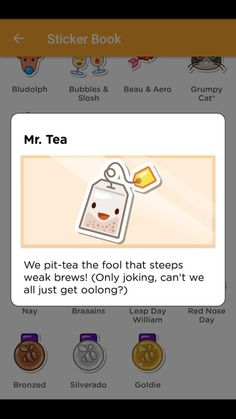 """Mr. Tea - Use the word """"tea"""" when checking in to unlock"""