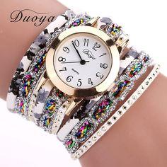 d0765a1876f62 Duoya Brand 2016 New Watches Women Flower Popular Quartz Watch Luxury  Bracelet Women Dress Lady Gift Flower Gemstone Wristwatch Feature   Brand Duoya ...