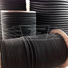ELASTIC BUNGEE CUERDA DE DESCARGA cordón de enlace ABAJO NEGRO 3mm 4mm 5mm 6mm 8mm 12mm 10mm