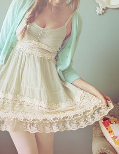 Pretty lace dress in #mint http://rstyle.me/n/f9bunnyg6