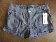 "KUYICHI Chambray denim chino shorts 30"" now only £19.99"