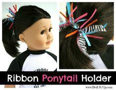 Make a Ribbon Ponytail Holder for Dolls