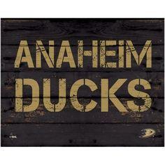 Anaheim Ducks 11'' x 14'' Rustic Option Wall Décor - Black