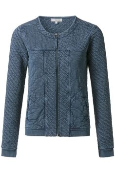 Quilted jack Donker blauw