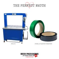 A strapping machine and steel or plastic strapping is the perfect match for your packaging needs! Call us today to speak to a packaging expert 1.800.722.2325 http://www.beckpackaging.com/ #BeckPackaging #BeckSolutions #MachineMatchmakers