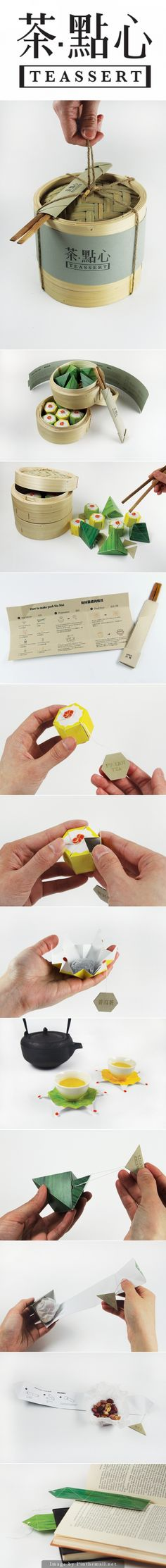 To Box For Leftovers From Your Dinner Party Guests! Too pretty not to share the entire Teassert by Lily Kao packaging pin curated by Packaging Diva PD Japanese Packaging, Food Packaging Design, Tea Packaging, Pretty Packaging, Brand Packaging, Branding Design, Identity Branding, Corporate Design, Brochure Design