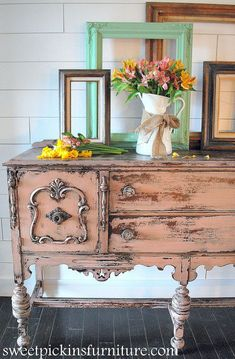 Antique Pink Buffet W/Sweet Pickins Milk Paint