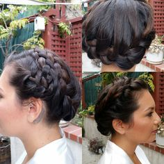 A stunning crown French braid