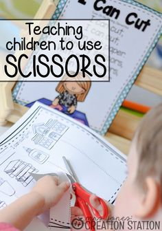 How to teach children to use scissor independently | Mrs. Jones' Creation Station