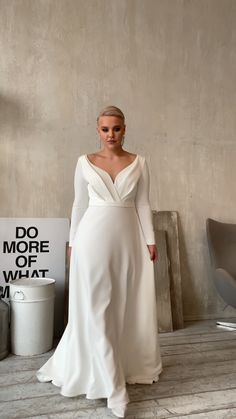 Plus Size Wedding Dresses With Sleeves, Stunning Prom Dresses, Prom Dresses Long Pink, Sleeves Designs For Dresses, Wedding Dresses For Girls, Wedding Dress Trends, Perfect Wedding Dress, Bridal Wedding Dresses, Simple Dresses