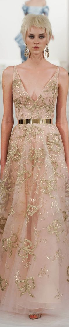 Class never goes out of style. -  Blush Pink OSCAR de la RENTA ● FALL 2014