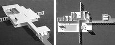 Sagaponac House Inspired by Mies Van der Rohe Landscape Diagram, Shigeru Ban, Ludwig Mies Van Der Rohe, Making Space, Concrete Blocks, Brick, Floor Plans, Flooring, How To Plan