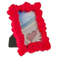 Διακοσμητική Κορνίζα 3D Κόκκινες Καρδιές Love 10x15 cm