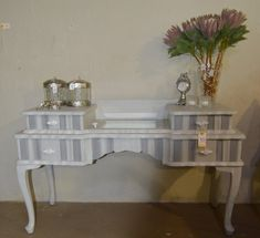 Stripes can create an interesting piece Vintage Furniture, Entryway Tables, Stripes, Antiques, Store, Create, Home Decor, Antiquities, Antique
