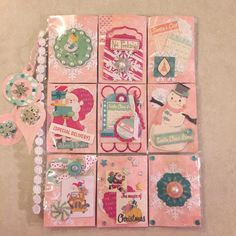 Christmas Pocket Letter using Bo Bunny Candy Cane Lane and some Cricut Explore cuts. By @ladymel12