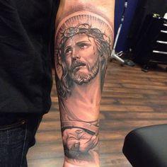 Jesus 2 tattoo by Abey Alvarez.