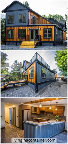 Shipping Container Home Designs, Container House Plans, Container House Design, Shipping Containers, Container Homes, Container Gardening, Modern Architecture House, Modern House Design, Sustainable Architecture