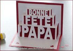 carte fête des pères à imprimer pop up à découper