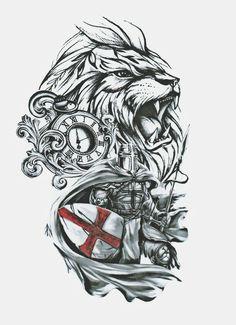 I love you always love ya ya love ya I love you ❤️ Tribal Lion Tattoo, Lion Head Tattoos, Forarm Tattoos, Lion Tattoo Design, Body Art Tattoos, Lion Tattoo Sleeves, Sleeve Tattoos, Half Sleeve Tattoo Stencils, Templar Knight Tattoo