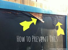 A must read for anyone about to add an outdoor chalkboard to their backyard. Simple tips on how to prevent your outdoor chalkboard from rotting.