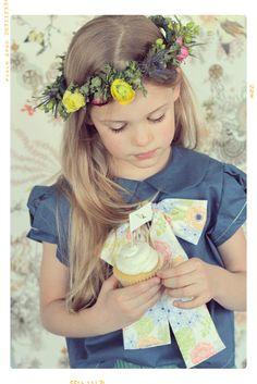 Meadow Lark Peter Pan Collar Girls Bow Blouse by Fleur + Dot Spring Summer 14 www.FleurandDot.com. #kids #fashion #handmade