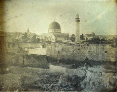 These earliest pictures of Jerusalem were taken in 1844 by French photographer and draughtsman Joseph-Philibert Girault de Prangey (1804 – 1892), who was active in the Middle East.