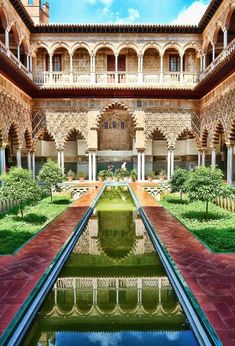 One of the most opulent settings in the show, the palace of Dorne seen in series five is filmed at Seville's stunning royal palace. Complete with its lush gardens, elaborately tiled courtyards and … Europe Travel Tips, Travel Deals, Spain Travel, Travel Destinations, London City, Alcazar Seville, Spain And Portugal, Royal Palace, Filming Locations