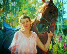 Cuadros al Óleo de Figura Humana Femenina, Pintor Vladimir Gusev