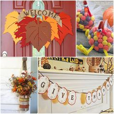creative thanksgiving ideas at TidyMom.net----love the tin can flower arrangement on the bottom.