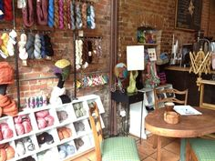 This coffee shop that's also a yarn store: New location 180 Lincoln Place, 7-8 Avenue in Park Slope, Brooklyn, NY