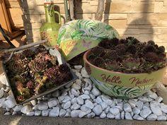 Gartendeko mit Gonis verschönert Planter Pots