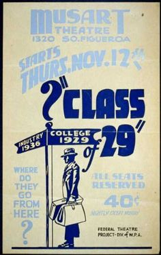 """Class of 29"" – Where do they go from here? (1936)"
