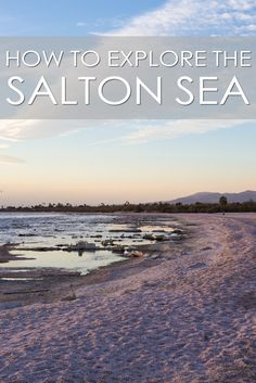 Salton Sea: Attractions, Art, Mud Volcanoes and Dead Fish - California Through My Lens Salton Sea California, California Travel, California History, Southern California, California Beach, Places To Travel, Places To See, Travel Destinations, Beautiful Places In The World