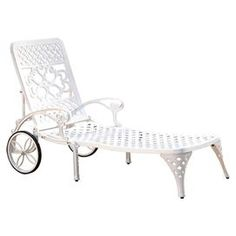 Biscayne Chaise Lounge in White (Set of 2)